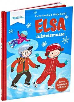 Elsa luistelemassa